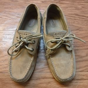 *Sperry Top-Sider Tan Leather Upper Boat Shoe*